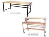 HEAVY-DUTY TUBULAR FRAMEWORK DOUBLE STRINGER WORK BENCHES - BASIC BENCHES