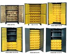 HEAVY DUTY ALL-WELDED BIN & SHELF 14 GA. STEEL STORAGE CABINETS